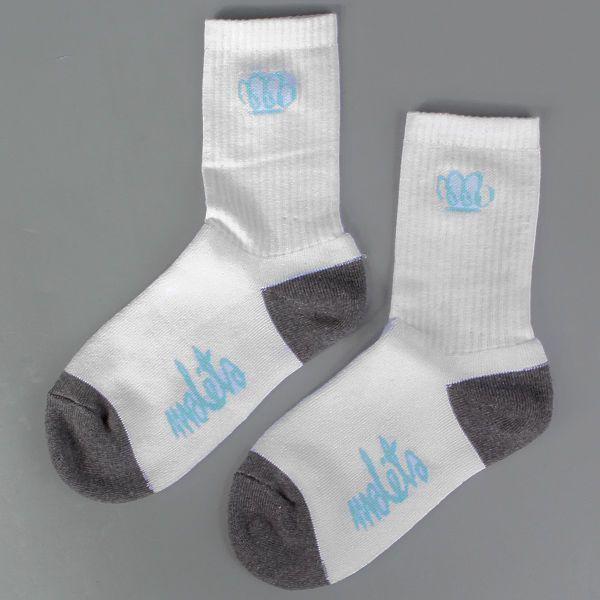 Skarpetki Malita Yoda white/ dark heather grey    - skarpetki MALITA   - sportowe z bawełny czesanej, z dodatkiem włókna elastanowego i poliamidowego   - z płaskim szwem i podwójnym ściągaczem