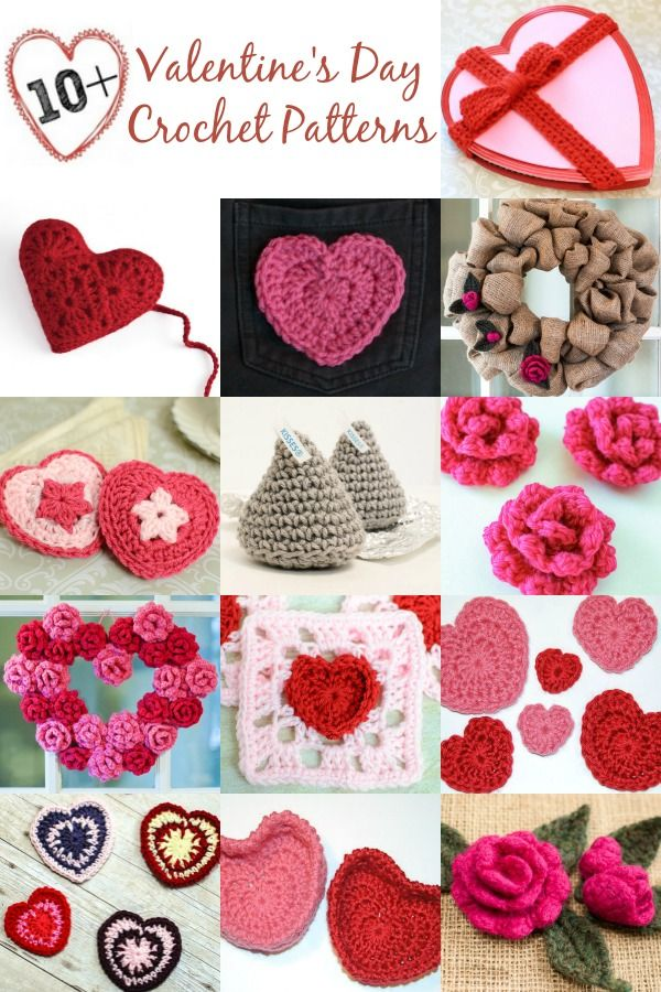 Free Valentine's Day Crochet Patterns ... Spread the love this Valentine's Day with some handmade goodies for your sweethearts!