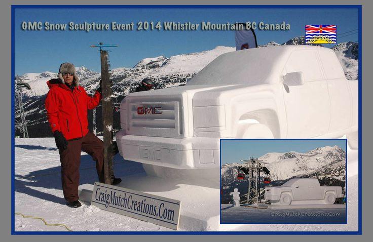 GMC snow sculpture on Whistler BC Canada
