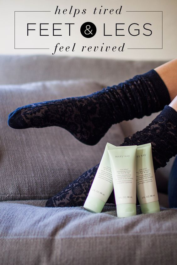 Mary Kay Mint Bliss Energizing Lotion helps tired feet and legs feel revived.