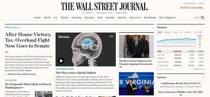 O chefe do Interactive Brokers publicou em toda a página da edição do The Wall