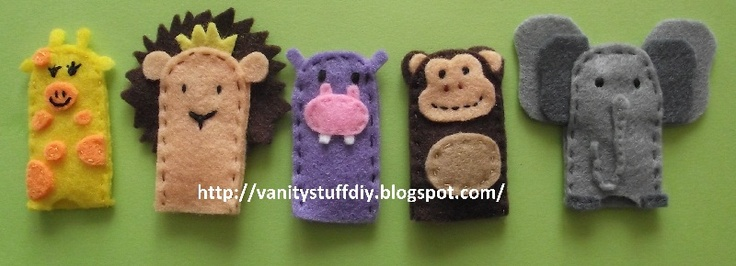 felt animals vanitystuffdiy.blogspot.com