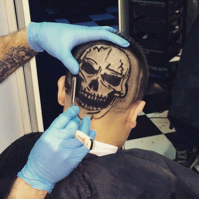 "15 Likes, 1 Comments - Michael (@michael_mghair) on Instagram: ""#hairtattoos #hairstyle #hairtattoo3d #hairtattoo #disegno #teschio #myart#mgoninstagram"""