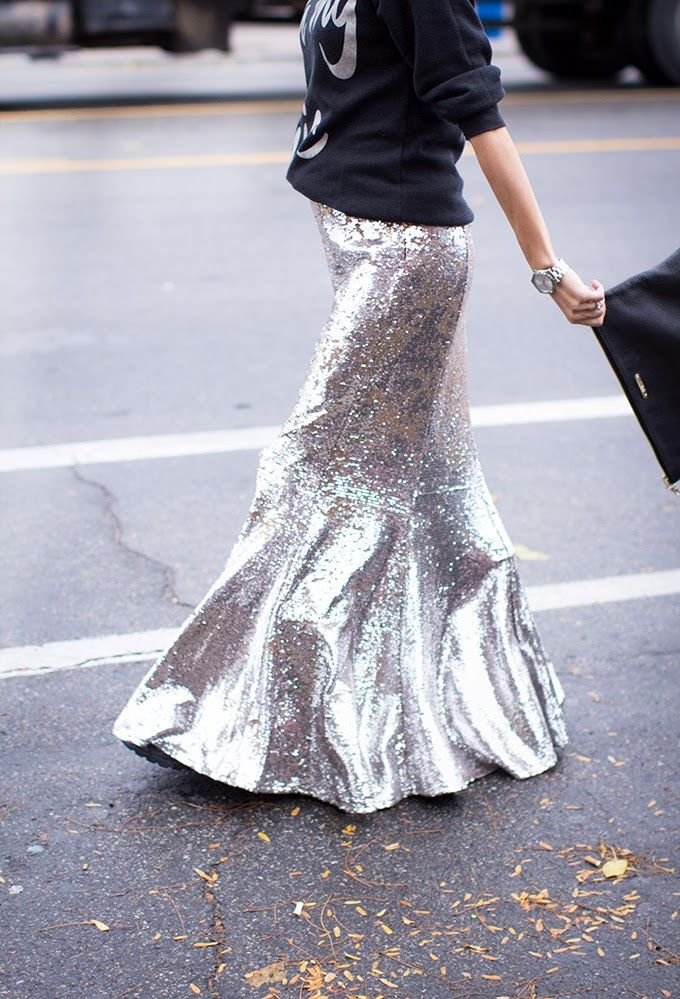 Mermaid & glitter skirt