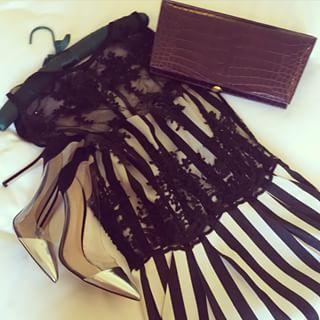 This evenings red carpet ensemble #stripes #lace #crocclutch and #stilettos  #Vanashree #ExoticElegance #vanashree_official #tiff #thulasindi