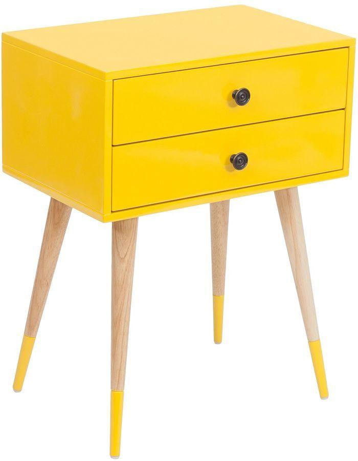 Zanui Zanui Bedside Tables Lois Yellow Bedside Table on shopstyle.com.au