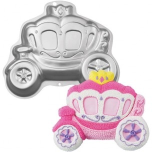 Wilton bakvorm van een prinsessen koets, voor de mooiste prinsessen taarten.