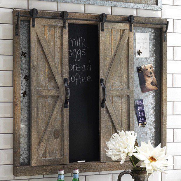 Sliding Barn Door Wall Organizer