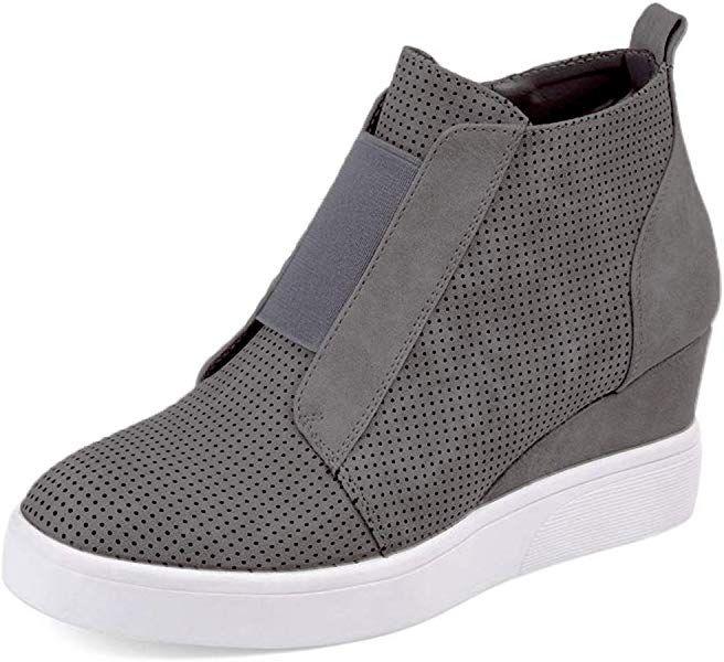 ae9ebe4a3a366 Amazon.com   Athlefit Women's Platform Boots Breathable Wedge ...