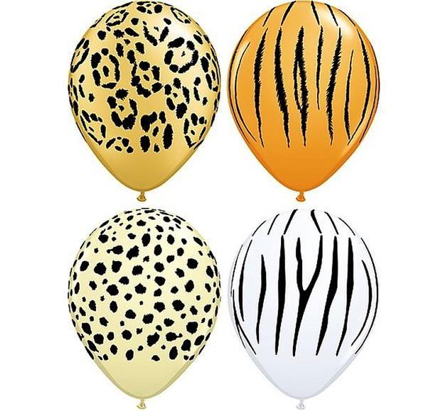 """Balon lateksowy 11"""" (29 cm) z nadrukiem Safari. Doskonały do dekoracji na wieczór panieński."""