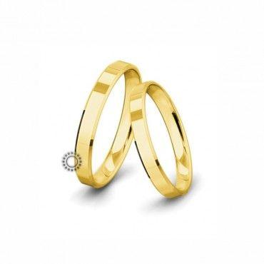 Βέρες γάμου Saint Maurice Classic κίτρινος χρυσός πλάτους 3.5mm επίπεδες εξωτερικά & ανατομικές   Βέρες αρραβώνα Saint Maurice ΤΣΑΛΔΑΡΗΣ στο Χαλάνδρι #SaintMaurice #βερες #γαμου #χρυσος #rings