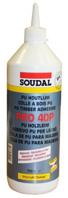 Colla per legno Soudal, 1K- poliuretano, impermeabile D 4
