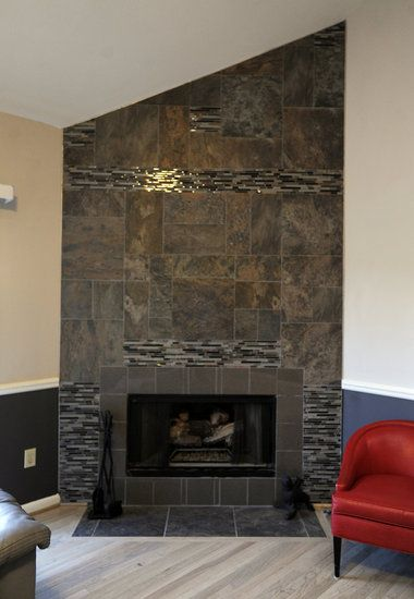 Remarkable Living Room Stone Fireplace