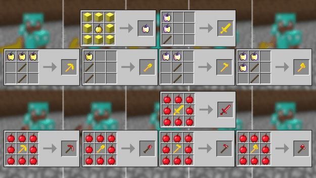 The Golden Appler mod 1.11 and 1.10.2gives the flexibility to make the most of the apples and golden apples for super sturdy weapons. The golden apple too