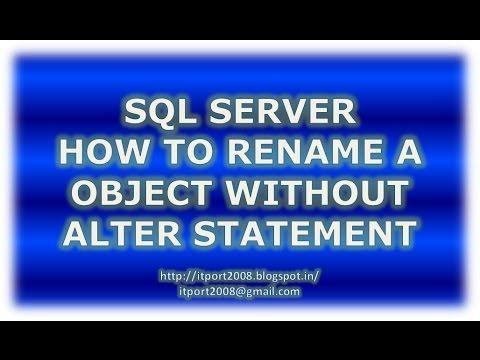 IT Port: SQL Server Rename Table|Column|View|Index|Constrai...