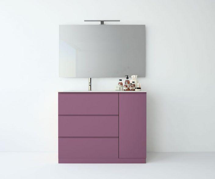 Muebles de baño, propuestas de composiciones para conseguir amplitud en el almacenaje: cajones, puertas correderas, abatibles, huecos vistos, etc. unibaño-compactos-almacenaje-25