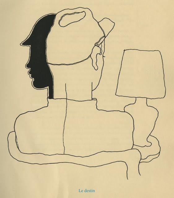 """Jean Cocteau, illustrations for his book """"Thomas l'imposteur"""", 1923  Le destin"""