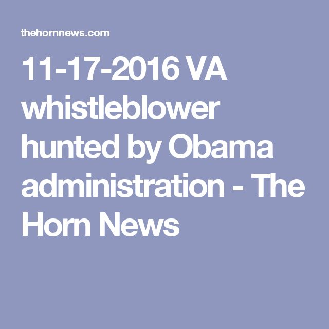 11-17-2016   VA whistleblower hunted by Obama administration - The Horn News