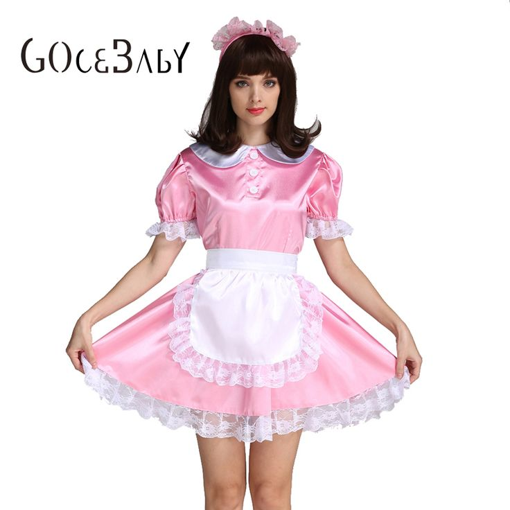 Sissy Girl Maid Satin Pink Lockable Dress Costume Uniform Forced Fem Crossdressing Cosplay Costume #Sissy maids http://www.ku-ki-shop.com/shop/sissy-maids/sissy-girl-maid-satin-pink-lockable-dress-costume-uniform-forced-fem-crossdressing-cosplay-costume/