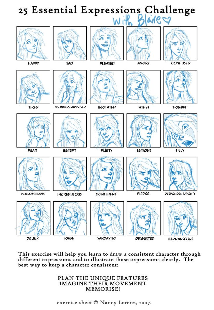 Facial Expression Challenge: Blaire by *burdge-bug on deviantART  expressions bangs long wavy hair defined jaw