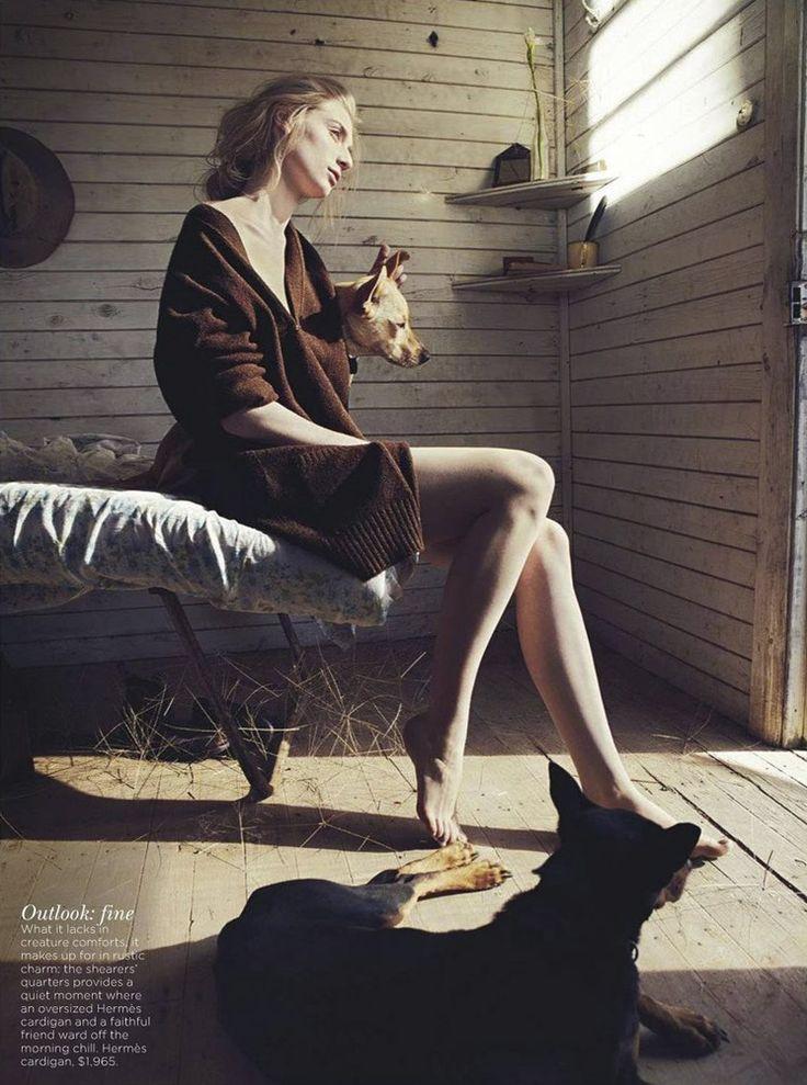 Photographer Will Davidson, Stylist Jillian Davison and Actress Elizabeth Debicki for Woolmark and Vogue Australia.