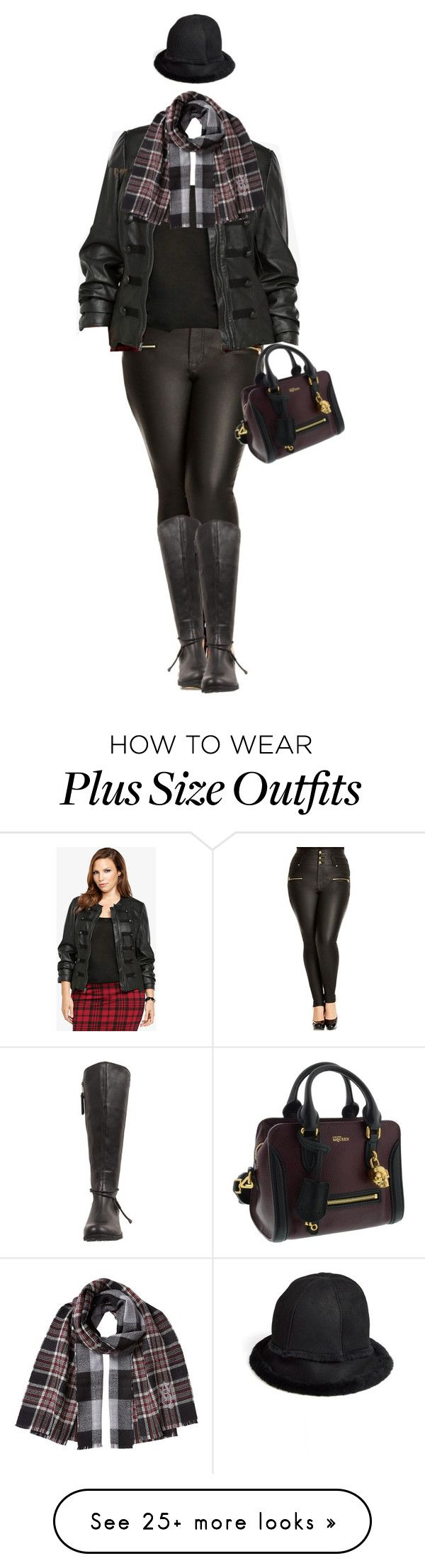 """Pam Plus Size Fashion"" by dkelley-0711 on Polyvore featuring City Chic, Torrid, UGG Australia, Alexander McQueen, AlexanderMcQueen, ugg, torrid, 2015wishlist and plus size clothing"