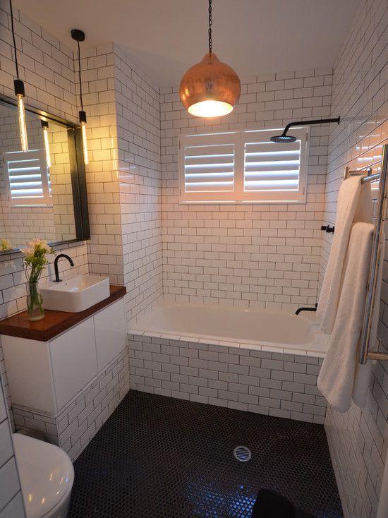 : Contemporary Bathroom With Subway Tiles Bathroom