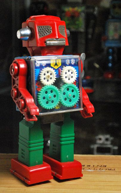 Wind Up Gear Robot (Horikawa / 1960s / Japan / 9 inches).