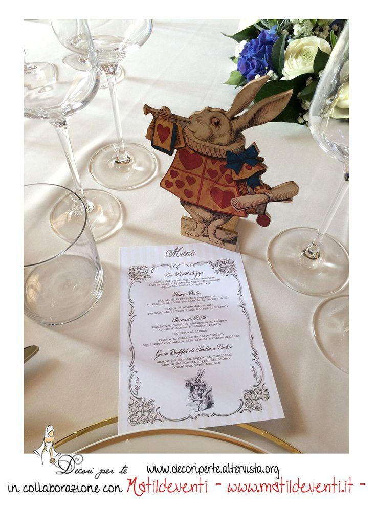 alice in wonderland wedding menu menu' alice nel paese delle meraviglie