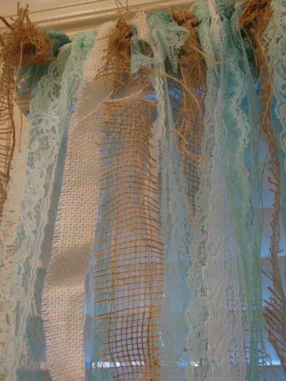 Ocean Wedding Burlap and Lace Garland / Curtain / Anthropologie ...