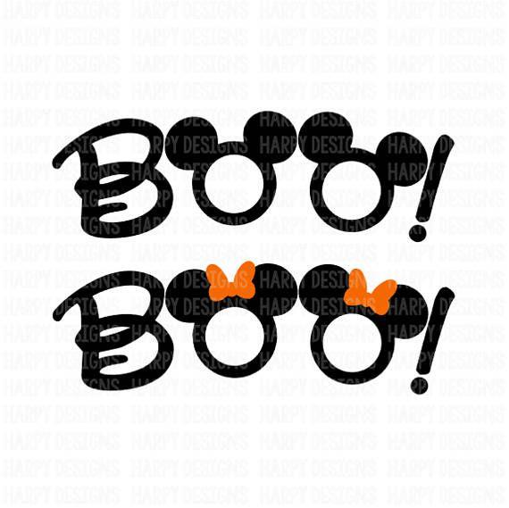 Boo Svg File Boo Svg Halloween Svg Cricut Files Silhouette Files Mickey Halloween Cricut Halloween Disney Halloween