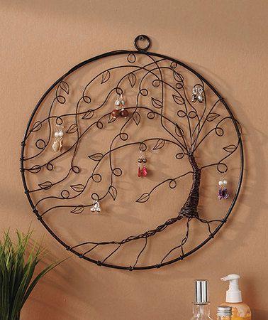 Tree of life wall jewelry holder