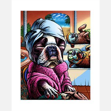 lol so cute!: Wild Animal, 16 50, Animal Illustrations, Pet, Fab Com, Spa 8X10, Art, Boston Terriers