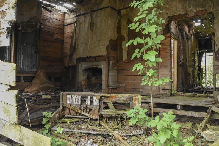 Abandoned house & piano, South Canterbury NZ.