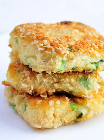 Cauliflower-Asparagus Cakes