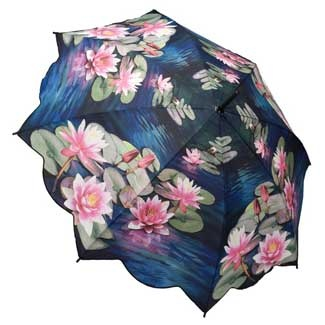 Galleria Art Print Auto Open & Close Folding Umbrella - Water Lilly Dream; Price: £24.95