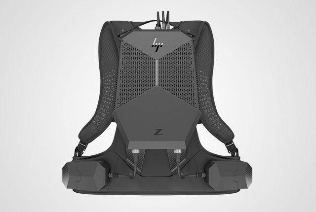 HP bir önceki oyuncular için tasarlanmış VR sırt çantasından farklı olarak bu sefer de iş yerleri için bir VR sırt çantası geliştirdi.