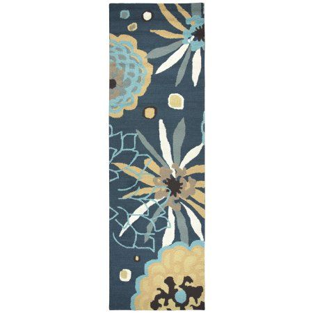 Rizzy Home Azzura Hill Ah054A Navy / Teal Area Rug 7 Feet 6 Inches X 9 Feet 6 Inches, Blue