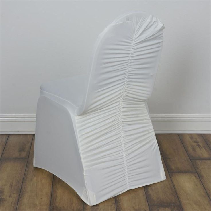 """Ivory Milan Banquet Chair Covers 