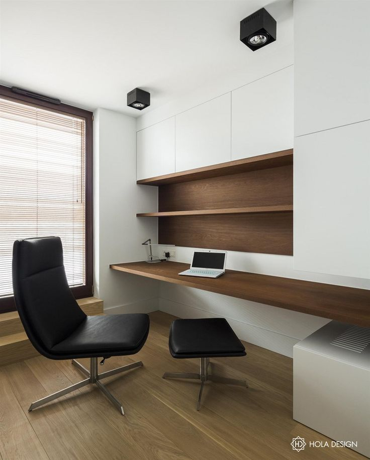 minimal clean wooden desk home office workspace zen HOLA Design