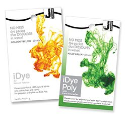 iDye for Natural and iDye Poly for resin dying