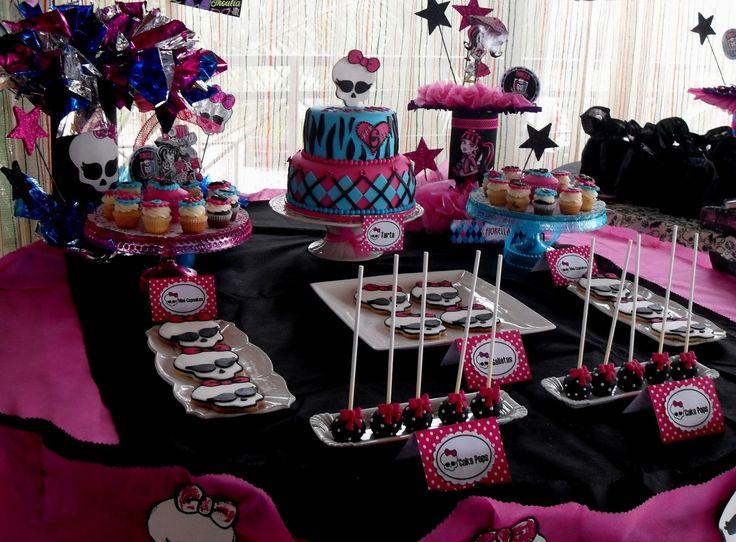 monster high party ideas | ... mesa de dulces inspirada en sus personajes favoritos, Las Monster High