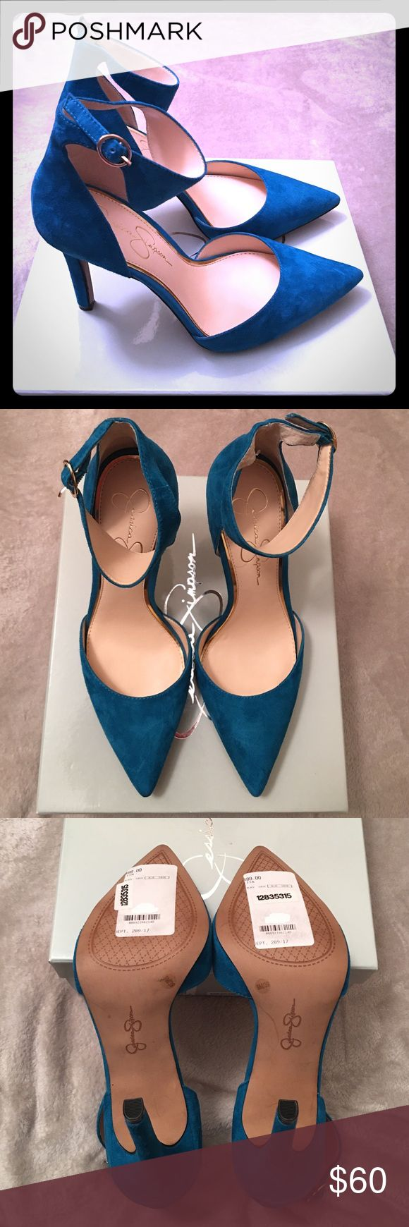 Selling this NWB Blue Suede Stilleto shoes Jessica Simpson sz 9 on Poshmark! My username is: katya000. #shopmycloset #poshmark #fashion #shopping #style #forsale #Jessica Simpson #Shoes