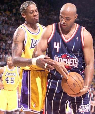 Rodman vs Barkley. Lakers vs. Rockets.