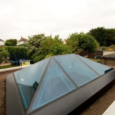 3/8 Example of a Glass Beam Supported Glass Rooflight.