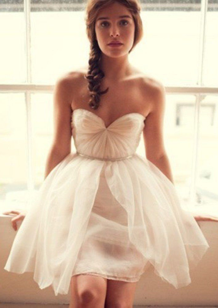 459 best images about Bridal Dresses (short) on Pinterest | Short ...