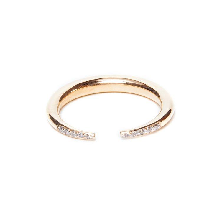 Double Diamond Crescent Ring- £485.00