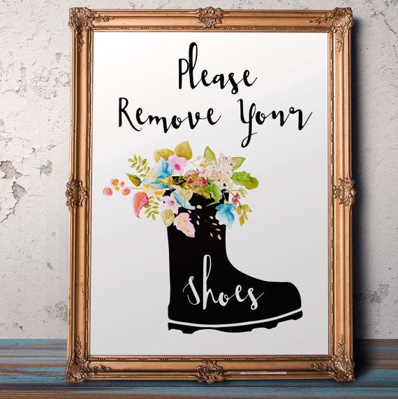 Remove shoes sign Take Shoes Off Please Remove your by AlniPrints