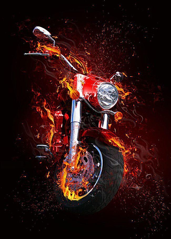 Coole Flammenmotorradbilder John Mcclure Nevertellme Com Diamond Painting Square Diamond Creative Background