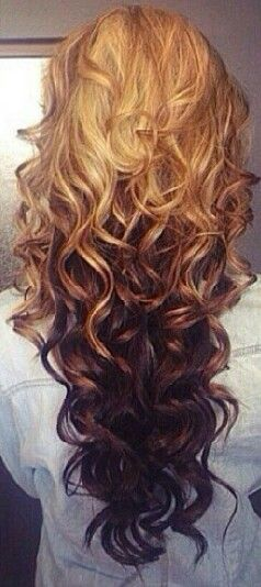 Ombre haif love it have the length now go to the hairdresser once today that is only on top a diffrent colour